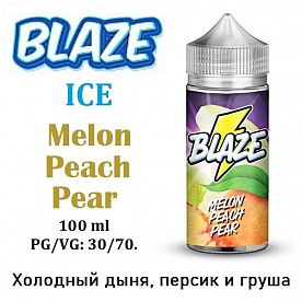 Жидкость Blaze - ICE Melon Peach Pear (100мл)