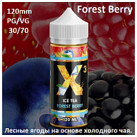Жидкость X-3 Ice Tea - Forest Berry 120 мл.