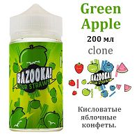 Жидкость Bazooka Sour Straws - Green Apple (clone, 200мл)