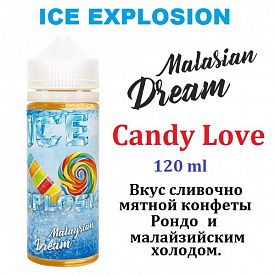 Жидкость Malasian Dream ICE - Candy Love 120 мл