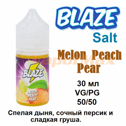 Жидкость Blaze Salt - Melon Peach Pear (30мл)