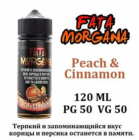 Жидкость Fata Morgana - Peach & Cinnamon 120мл