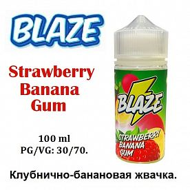 Жидкость Blaze - Strawberry Banana Gum (100мл)