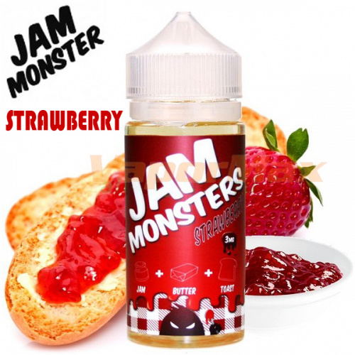 Жидкость Jam Monsters - Strawberry (clone premium)