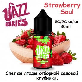 Жидкость Jazz Berries Salt - Strawberry Soul (30мл, 25мг)