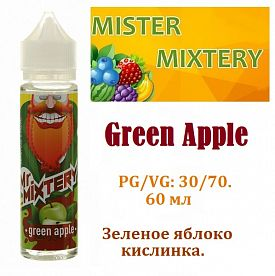 Жидкость Mister Mixtery - Green Apple (60мл)